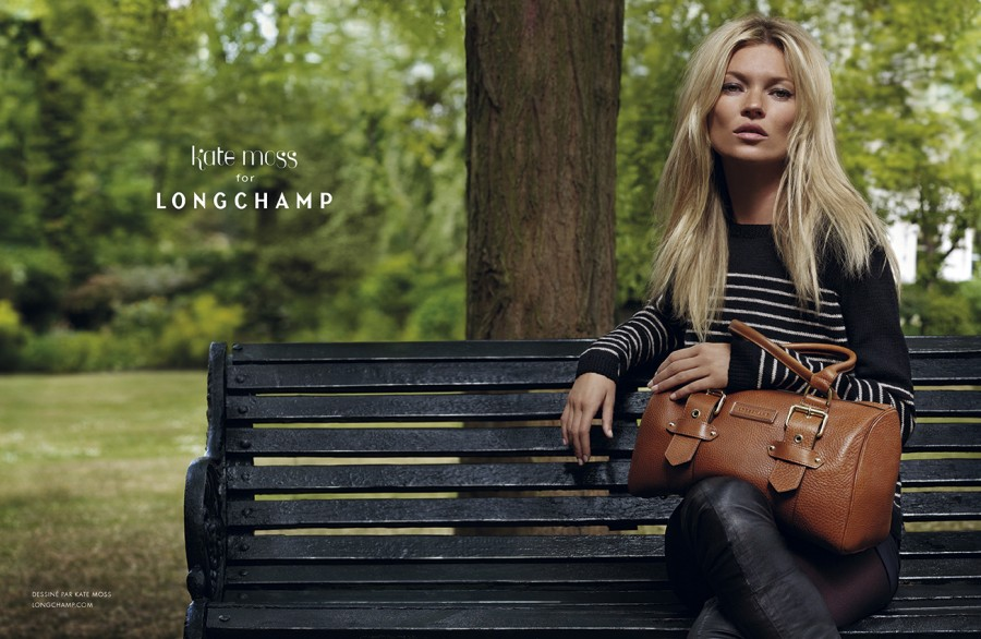 Kate Moss for Longchamp - Autumn Winter print campaign in London #1