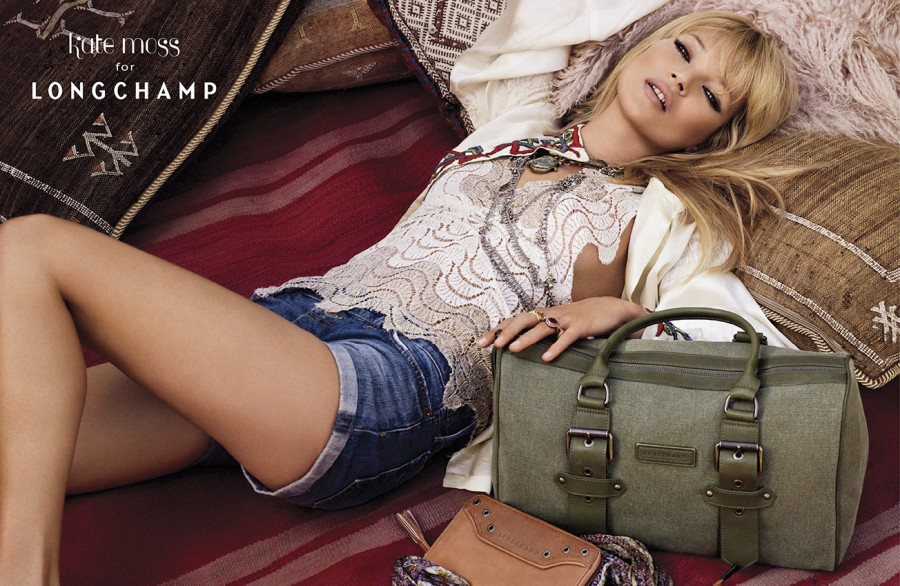 Kate Moss for Longchamp - Spring Summer print campaign in Marrakesh #1